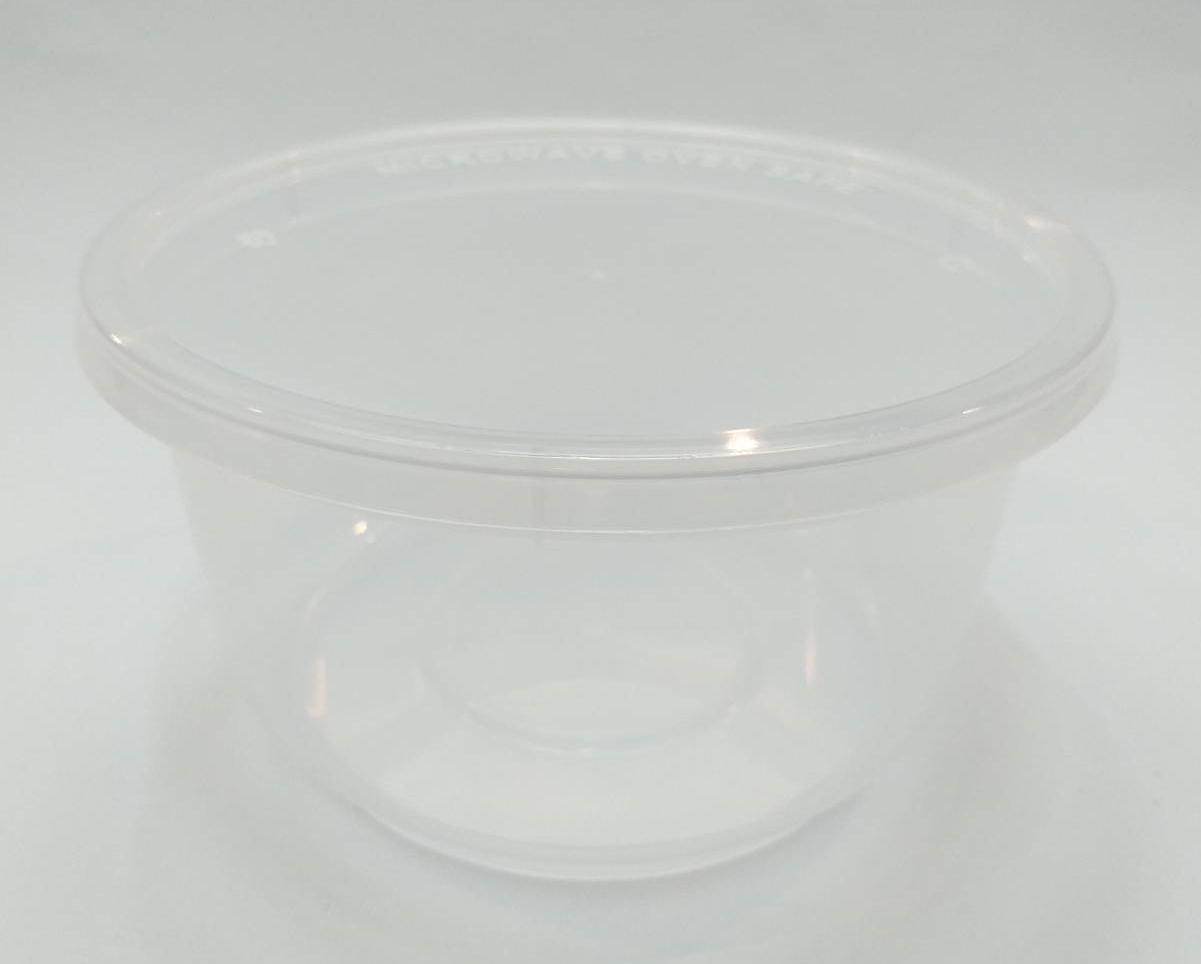 กล่องอาหารทรงกลม 680 ml. สีใส