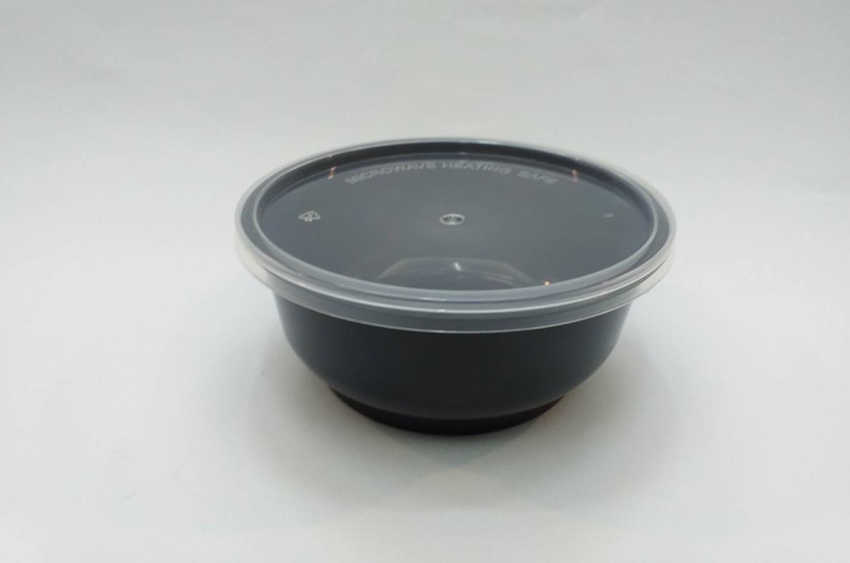 กล่องอาหารทรงกลม 13 oz.สีดำ