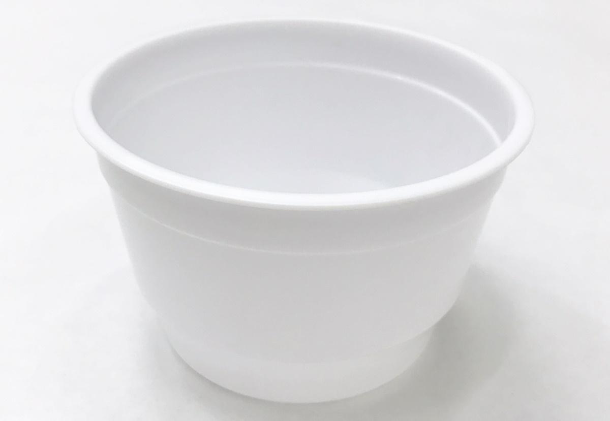 ถ้วยขนมหวานทรงกลม สีขาว